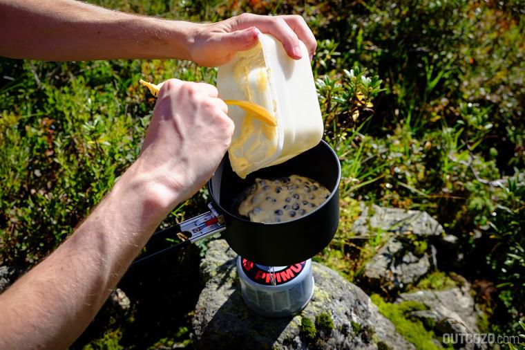 Heidelbeer Pancakes Outdoor