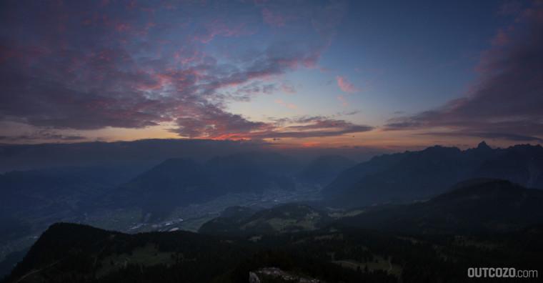 Sonnenaufgang von der Mondspitze aus gesehen
