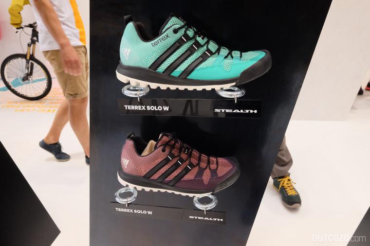 Adidas terrex Solo W Farben Frauen: mineral red/black/pink // mint/black/green Gewicht: 280g (bei UK-Größe 5,5)