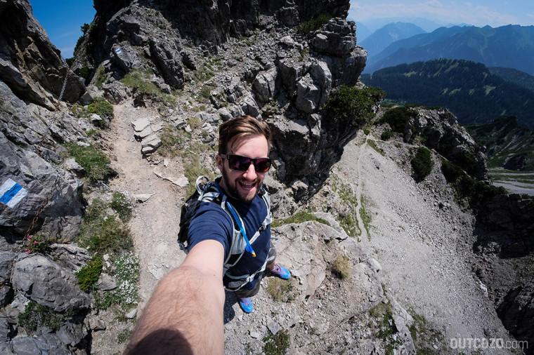 Schillerkopf Aussicht auf den Trail zur Tschengla