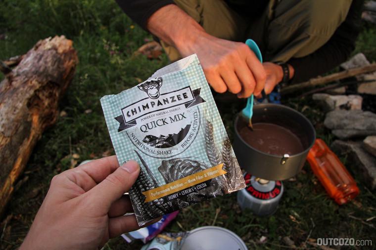 chimpanzee quickmix biwak frühstück
