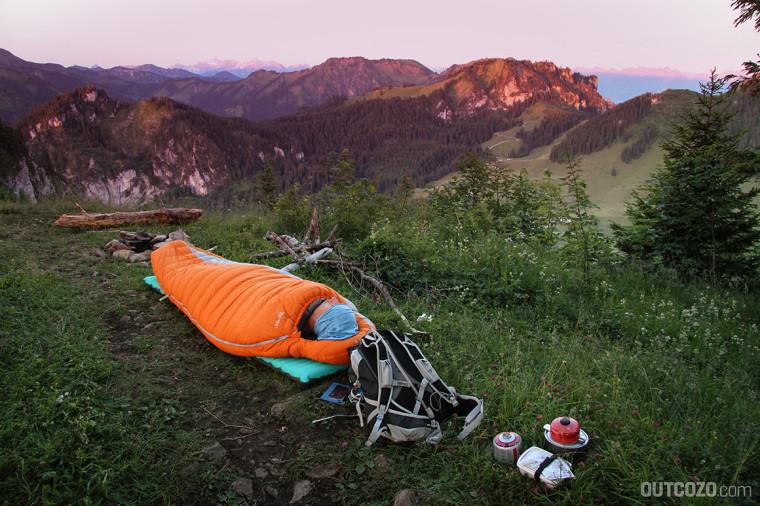Sonnenaufgang beim Biwak auf dem Staufen