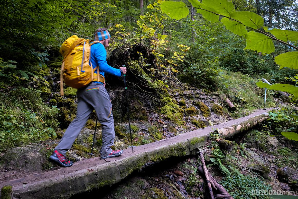 Trekking durch Regen mit dem Hedgehog Fastpack