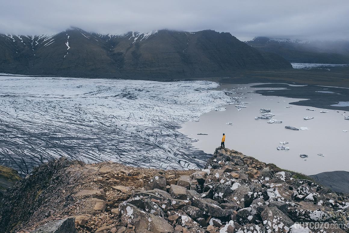 Viewpoint Sjónarnípa Gletschersee Skaftafellsjoekull