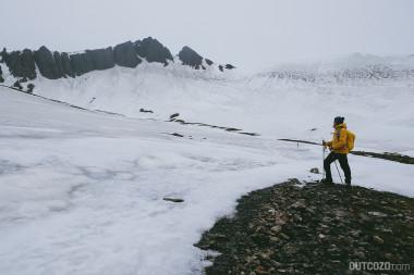 Kristinartindar - Blick auf das eisige Plateau