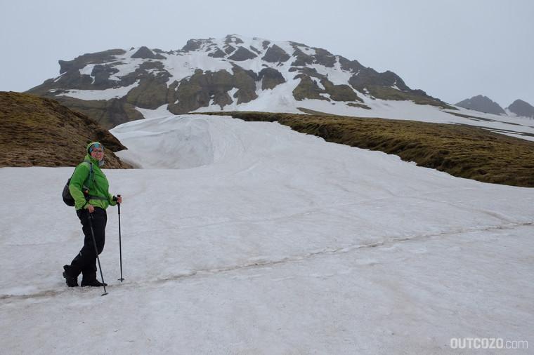 Kristinartindar Skaftafell Weg im Schnee