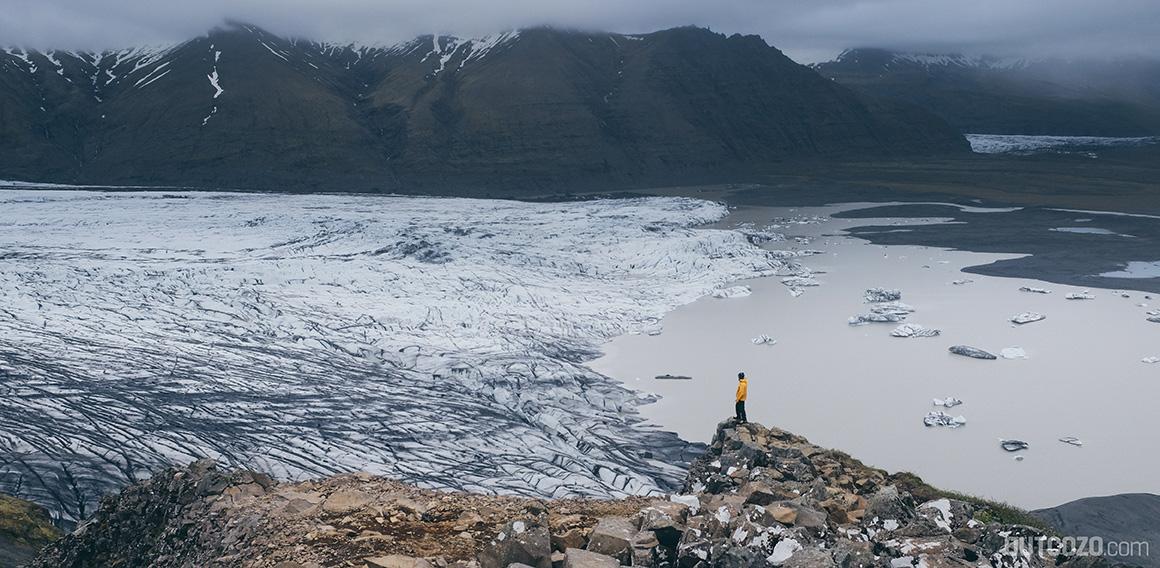 Vatnajökull Gletscher Aussichtspunkt Sjónarnípa