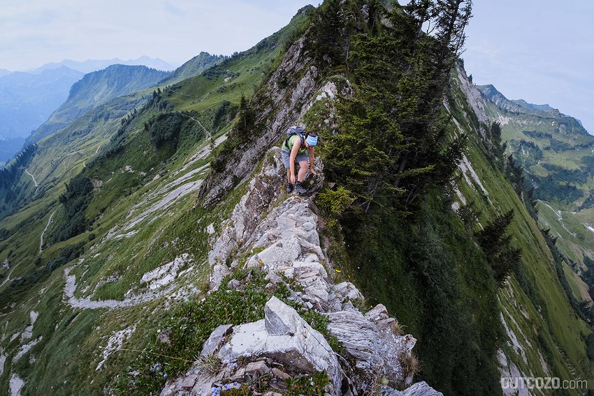 Abfallender Grat Löffelspitze