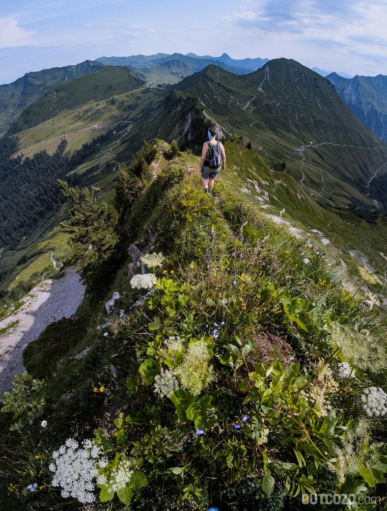 Schöne Aussicht beim Abstieg von der Löffelspitze