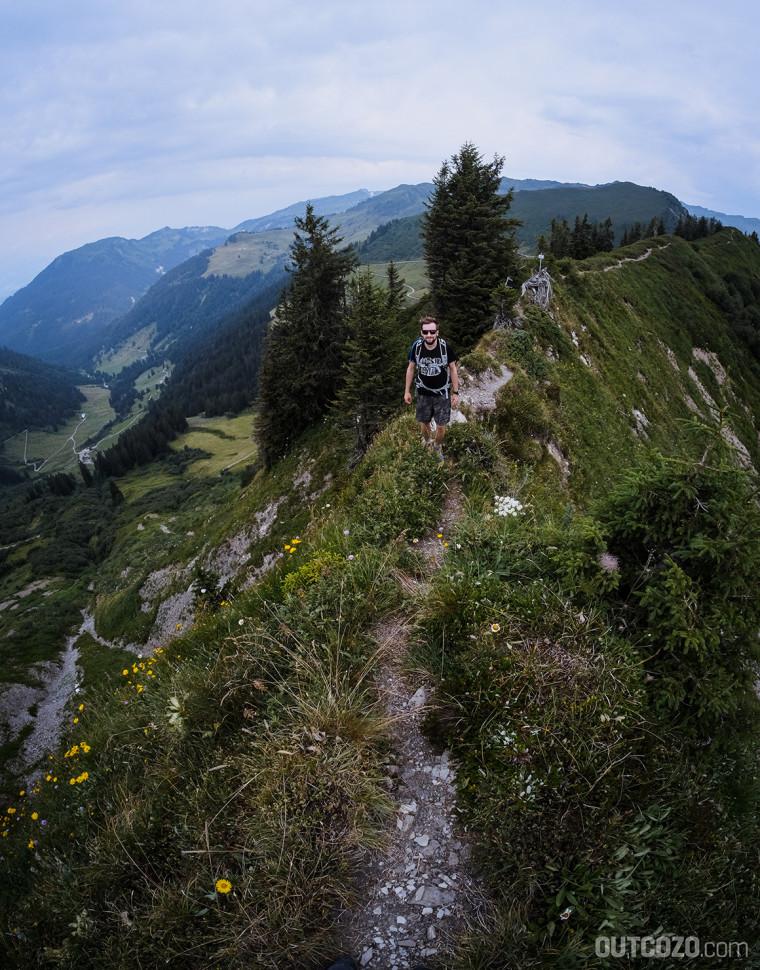 Einstieg in den Grat zur Löffelspitze
