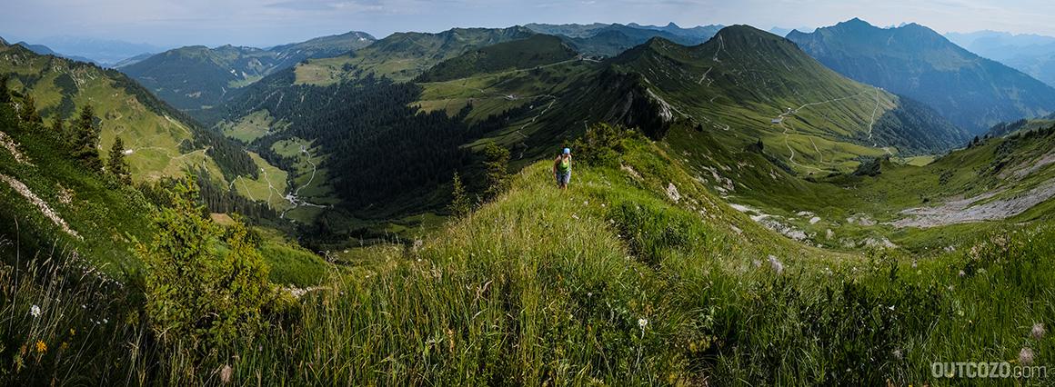 Löffelspitze Furkajoch Panorama