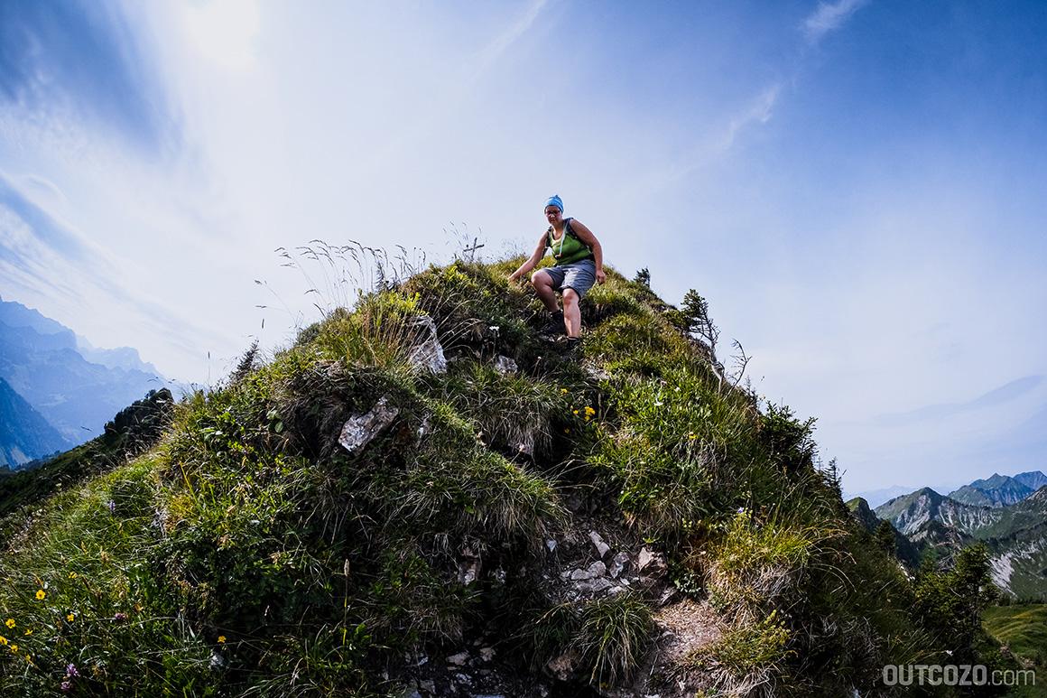 Löffelspitze Gipfelbereich im Abstieg