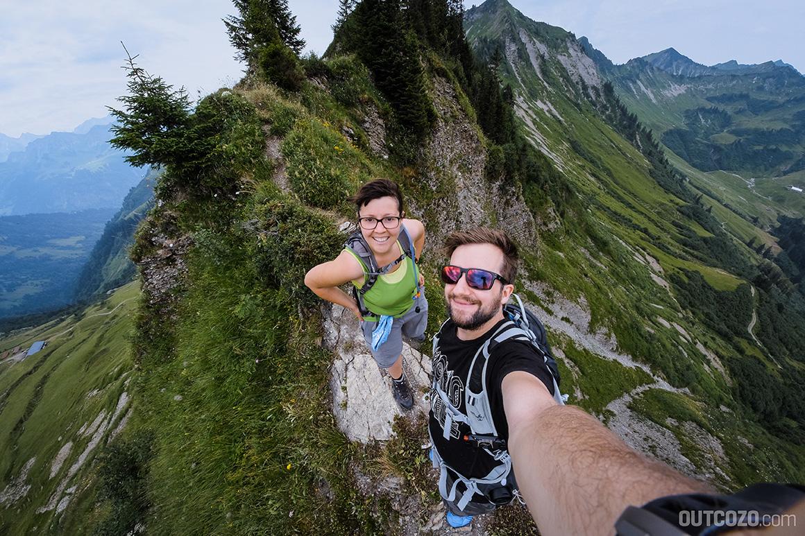 Löffelspitze Selfie auf dem Grat