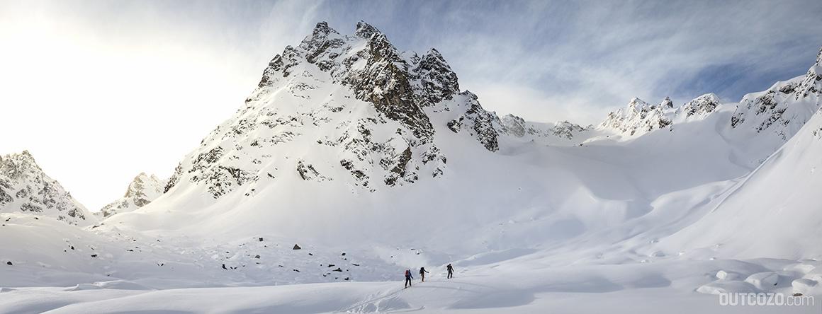 Skitourer unter dem Kleinlitzner