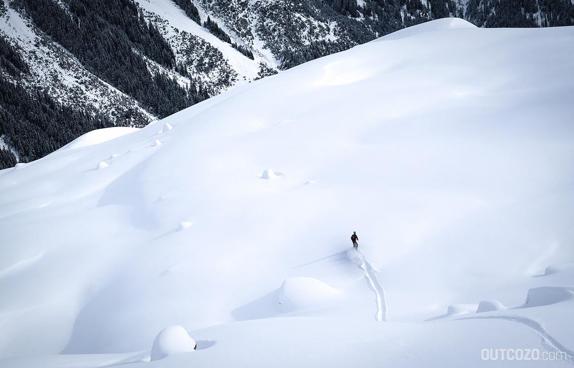 hochjoch jungfräulicher tiefschneehang