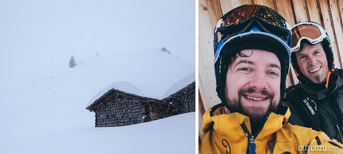 Whiteout Skitour und Spass dabei
