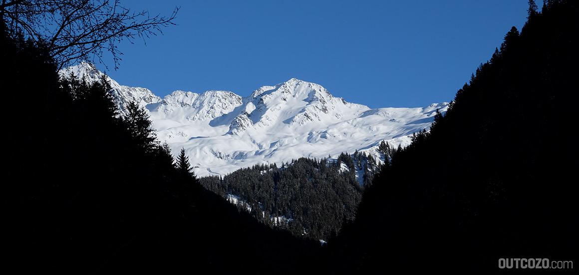 skitour fellimaennle blick auf den hang