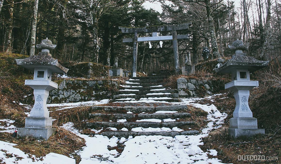 Yoshidaguchi Pilgerweg Schrein