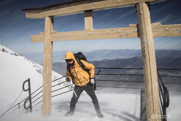 fuji winterbesteigung sturm