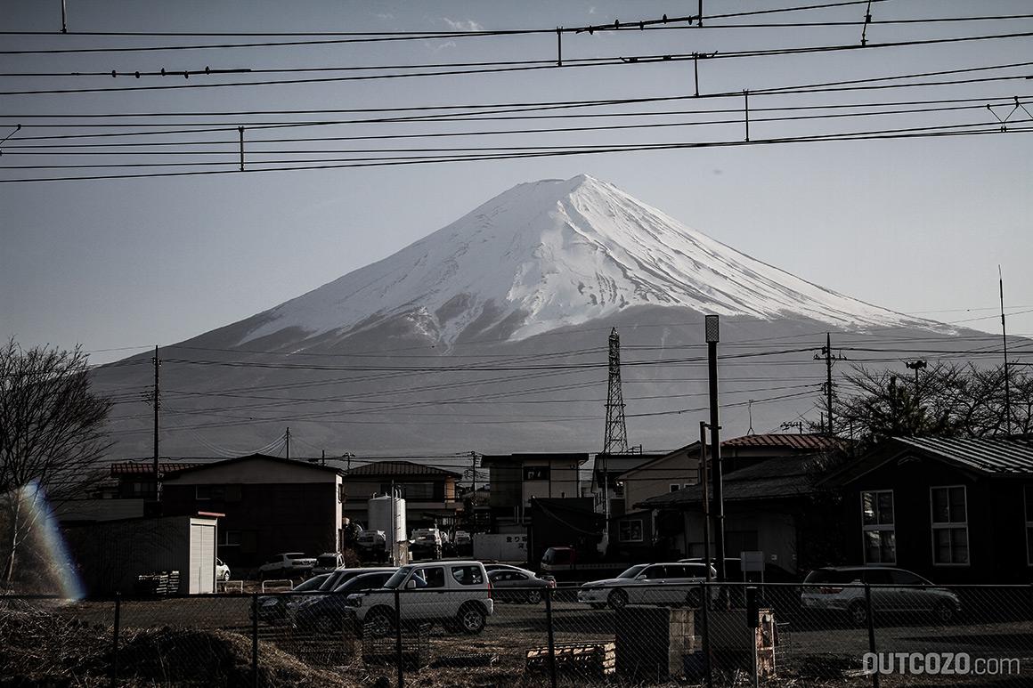 Kawaguchiko Bahnhof Mount Fuji Sicht