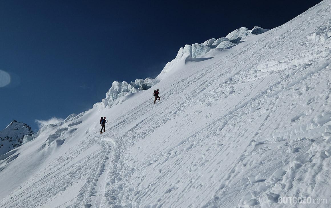Spitzkehren Skitour Piz Buin über Ochsentaler Gletscher
