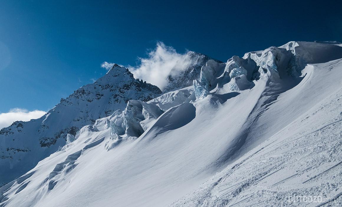 Piz Buin erhebt sich über dem Ochsentaler Gletscher