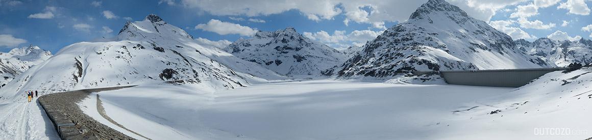 Silvretta Stausee im Winter