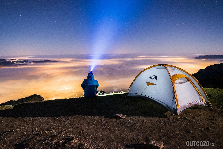 Mit dem Zelt auf der Hohen Kugel