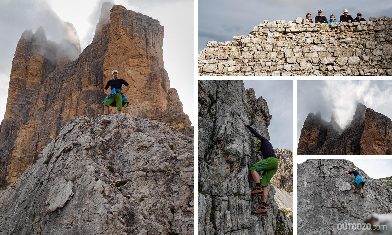 Bouldern im Dolomitgestein