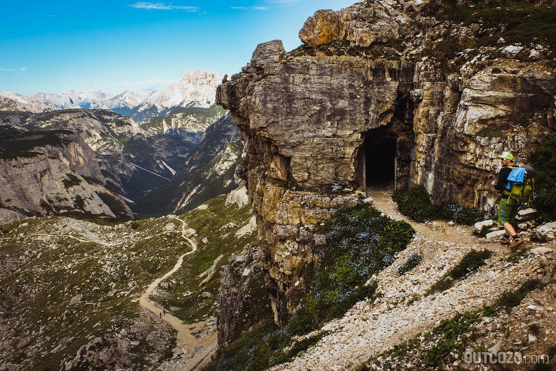 Einstieg De-Luca-Innerkofler-Klettersteig