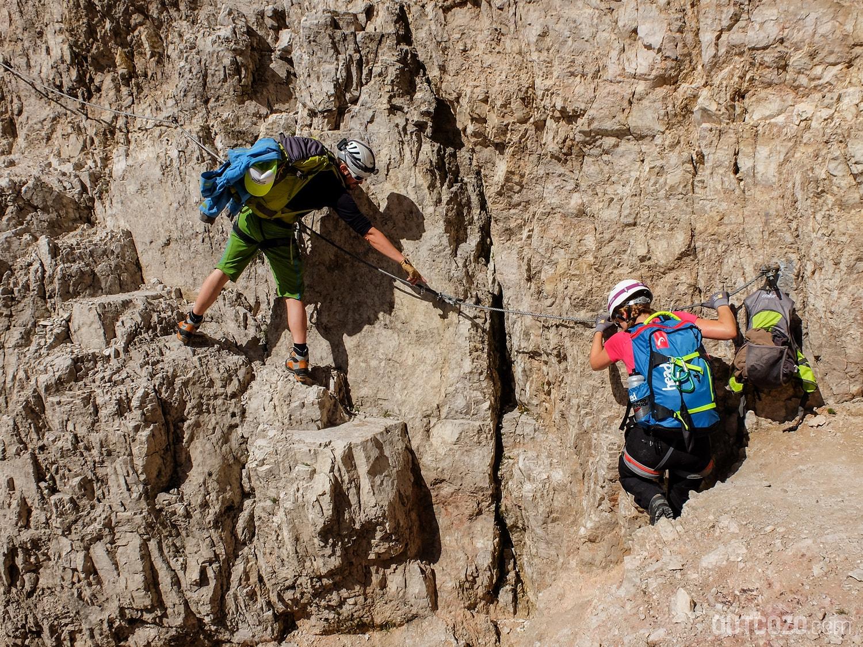 Einstieg Paternkofel Klettersteig