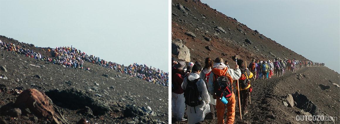 Fuji Bergsteiger