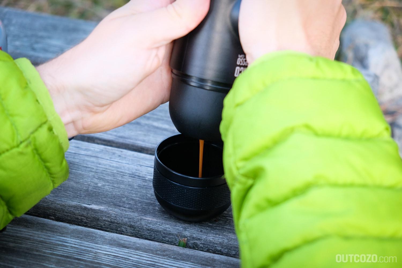 Outdoor Espresso mit der Minipresso