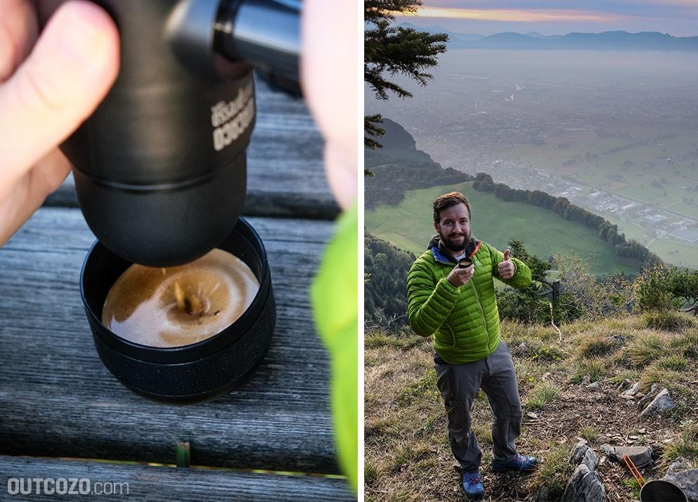 Wacaco Minipresso Espresso in der Wildniss