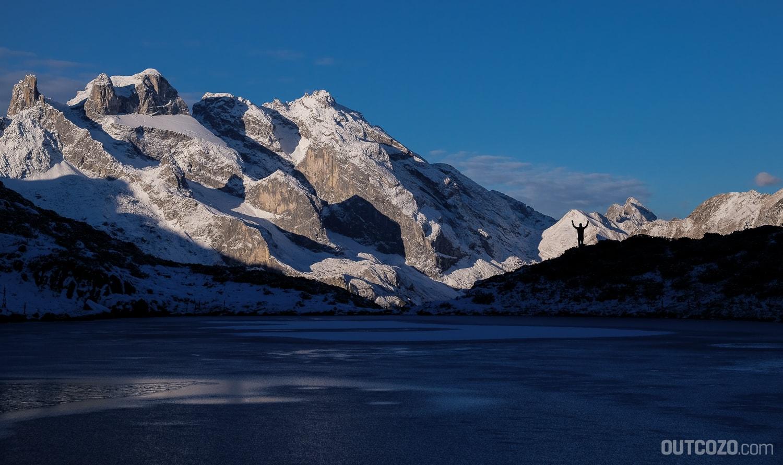 Tobelsee mit Drei Türmen im Winter