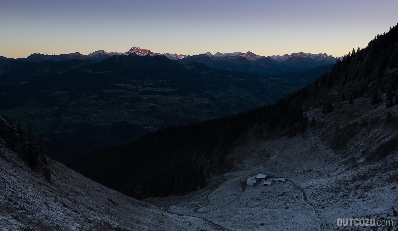 Sonnenaufgang von Montabella aus