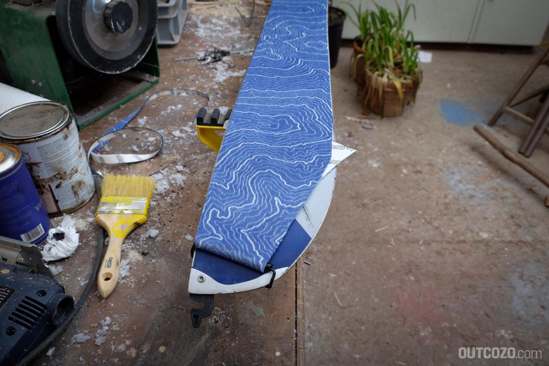 Splitboardfell zuschneiden