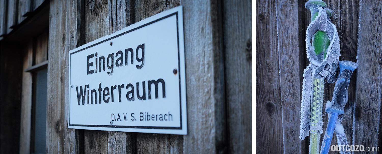 Eingang Winterraum Biberacher Hütte