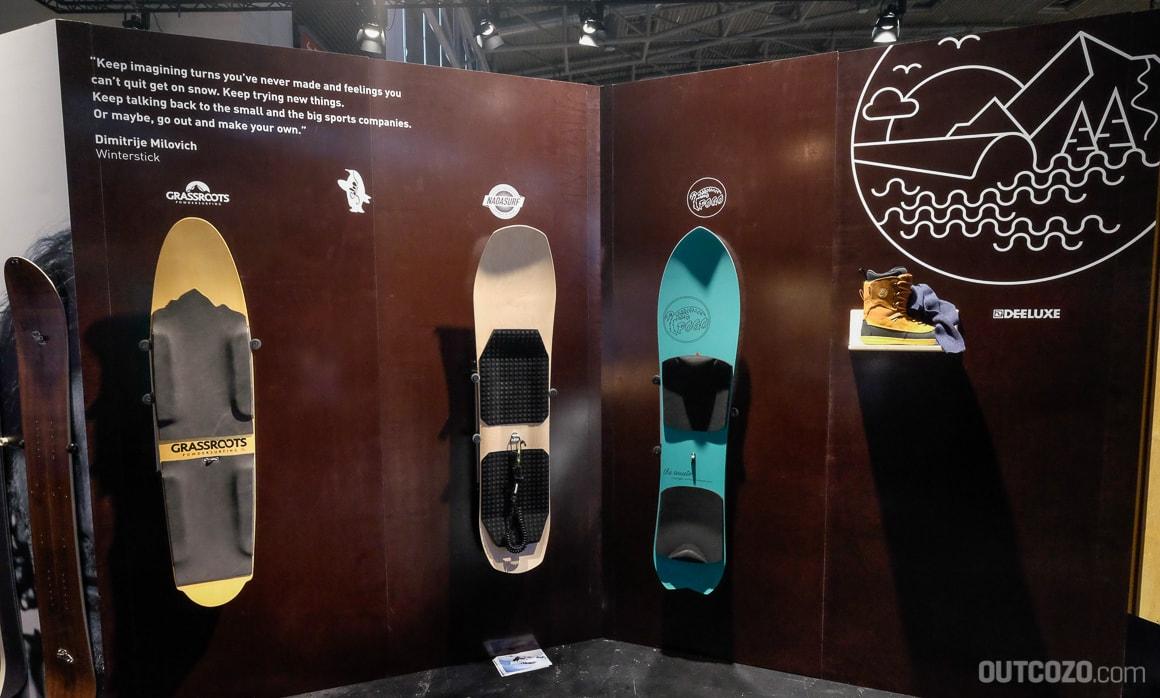 Powder-Surfboards auf der ISPO 2017