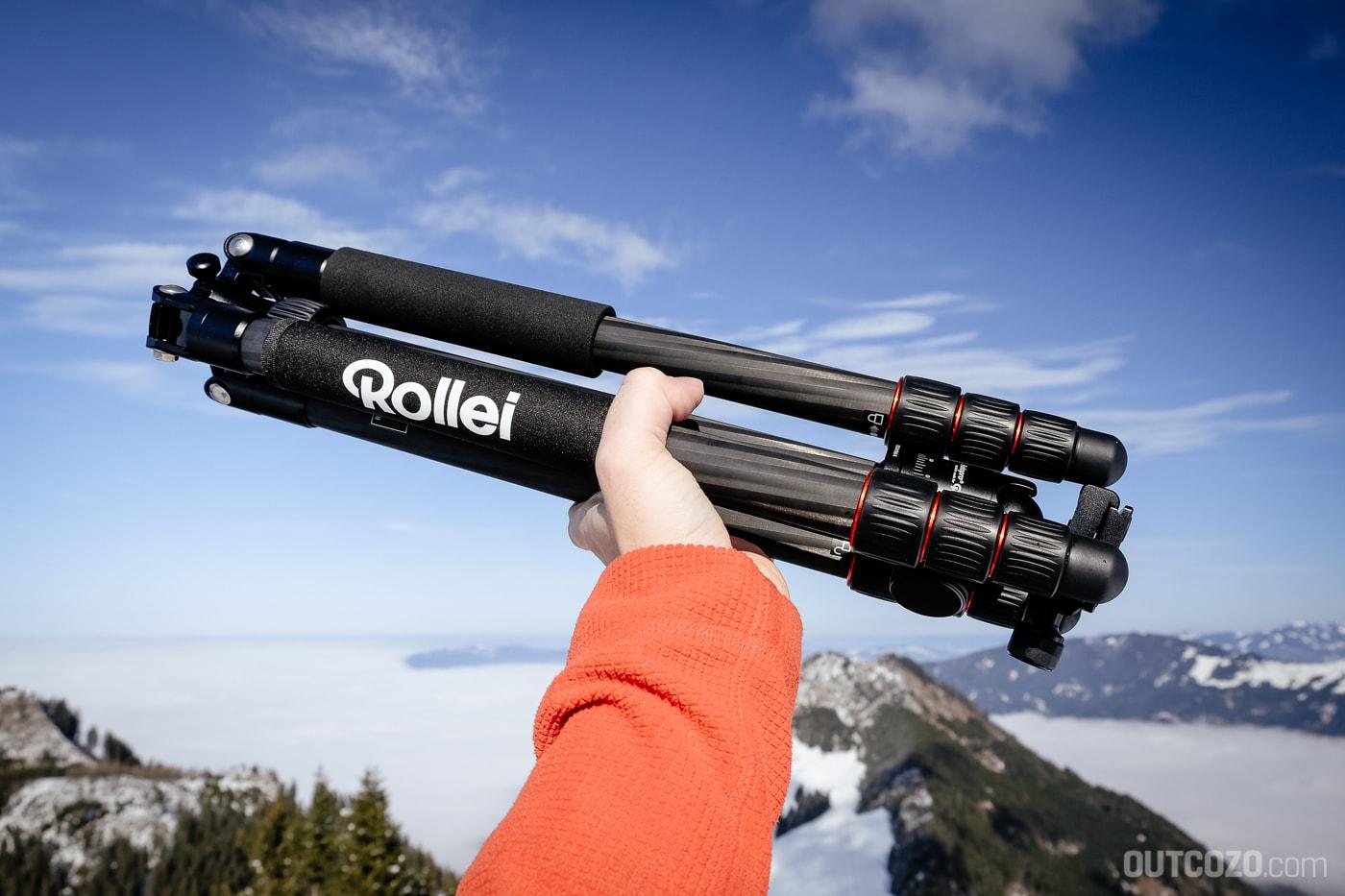 Rollei C5i Carbon in der Hand