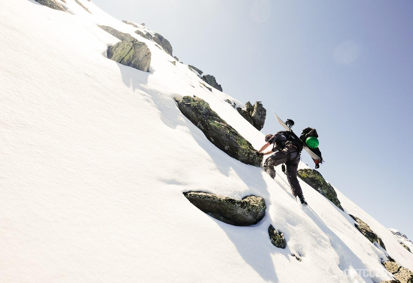 Winterklettersteig Burg Zustieg