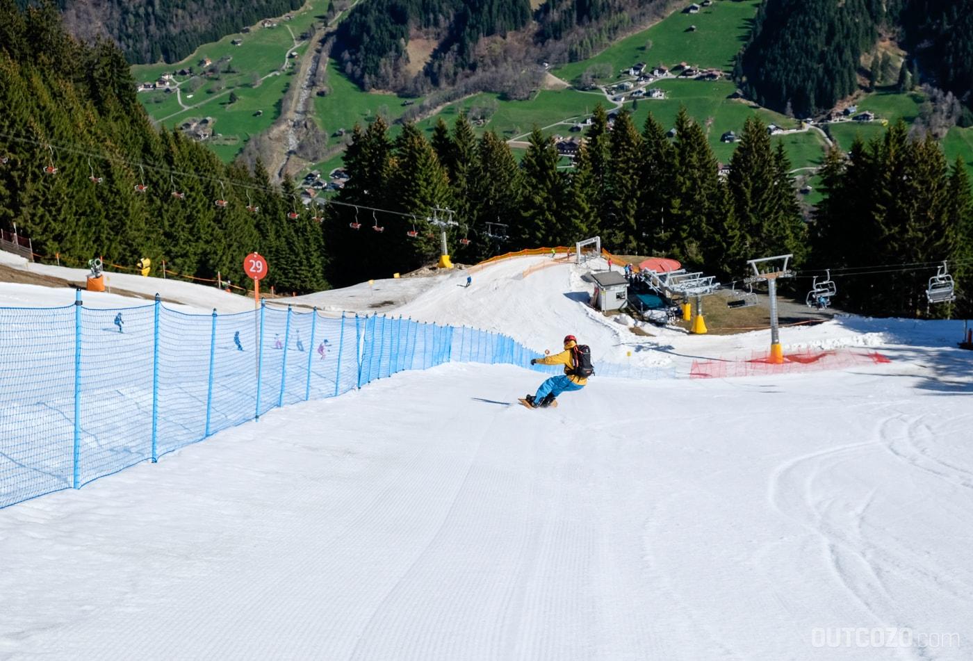 Silvretta Montafon Pistenheizen mit dem Snowboard