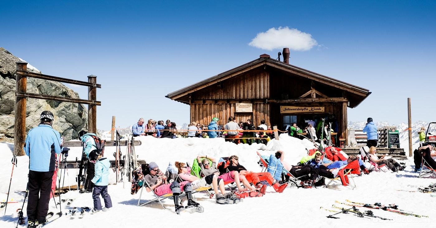 Silvretta Montafon Sonnenterasse Schwärzköpfle Kiosk Hütte