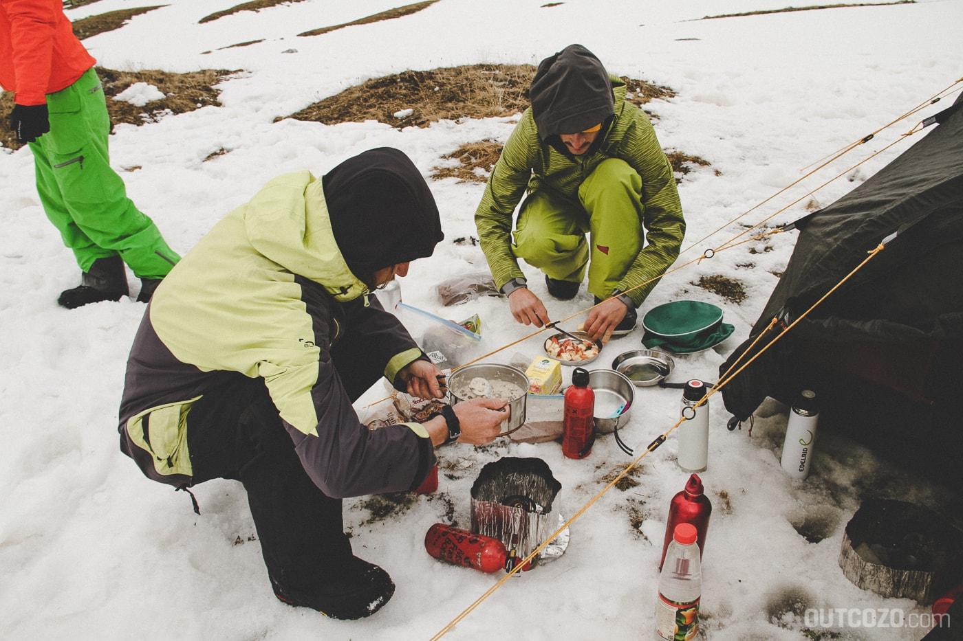 Outdoor Frühstück