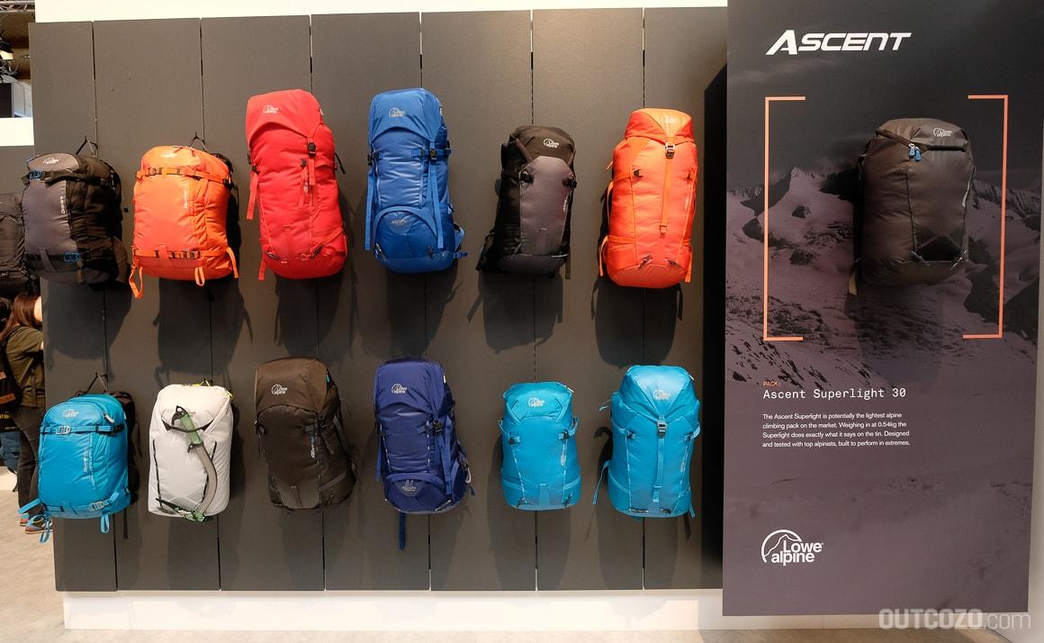 Lowe Alpine Ascent Rucksack-Linie