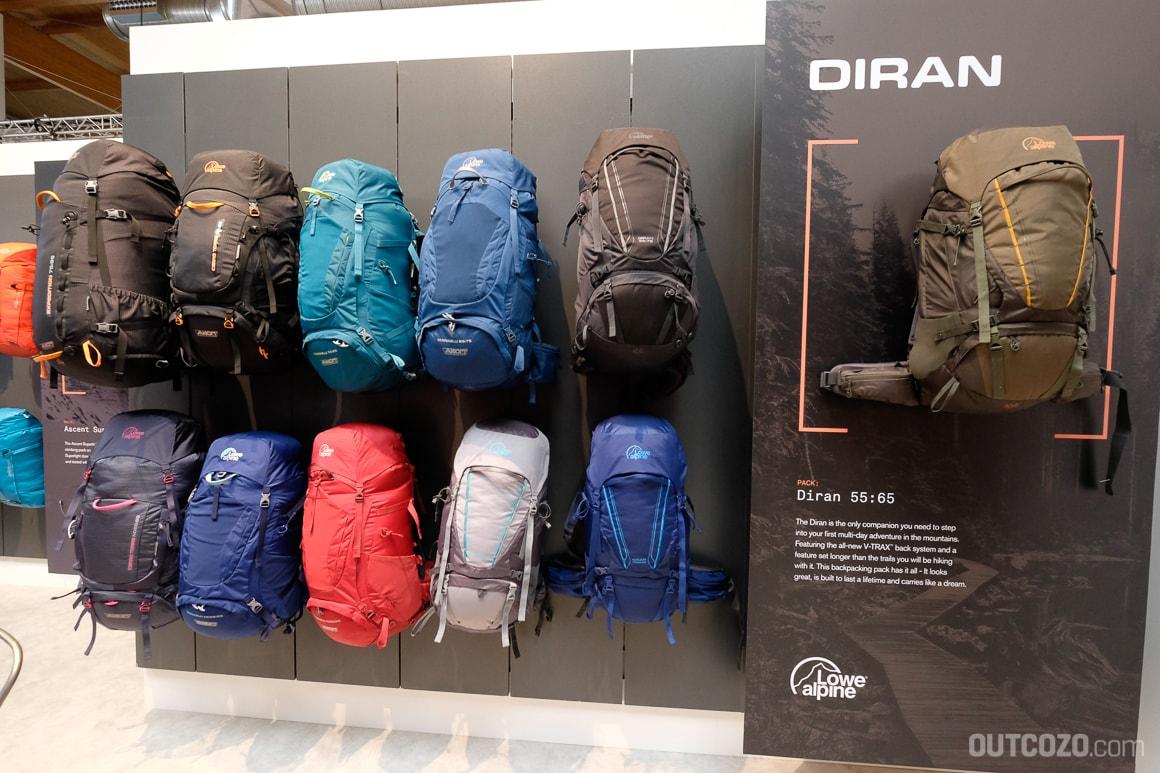Trecking-Rucksack-Serie Diran von Lowe Alpine