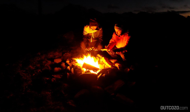 Lagerfeuer in freier Natur