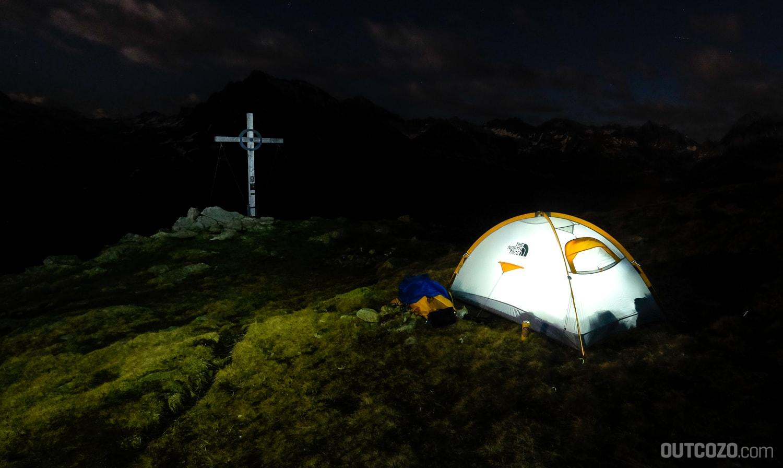 Zelt am Berggipfel