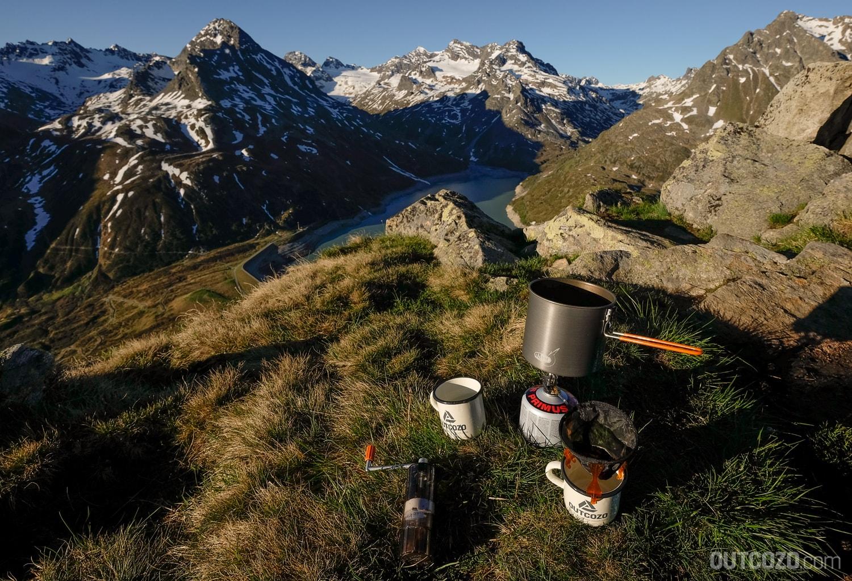 Kaffee auf Bergtour