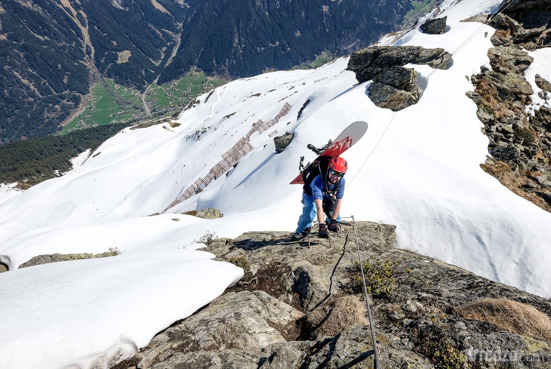 Mit dem Alpina Snow Tour im Winterklettersteig
